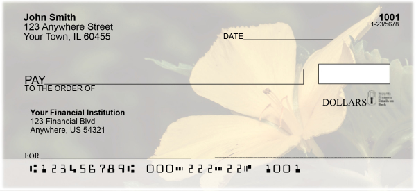 Colorful Flowers Personal Checks