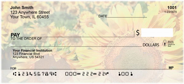 Field of Flowers Personal Checks