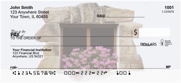 Window Flowers Personal Checks