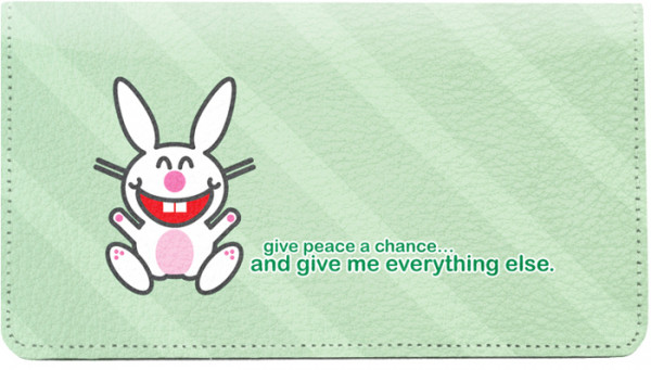 It's Happy Bunny Peace 2 Leather Cover | CDP-IHB16
