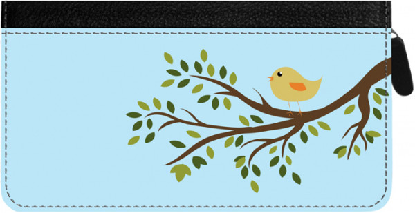 Feathered Friends Zippered Checkbook Cover | CLZ-ANK93