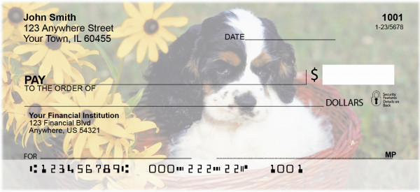 Cocker Spaniel Puppies Personal Checks | DOG-06