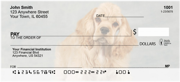 Cuddly Cocker Puppies Personal Checks | DOG-66
