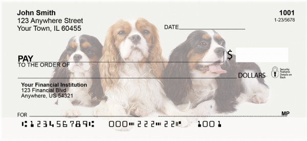 Cavalier Spaniels Personal Checks | DOG-98