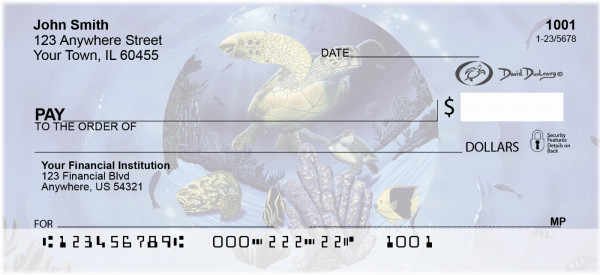 Turtles Personal Checks by David Dunleavy