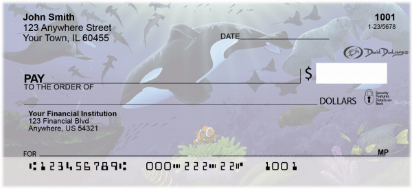 Whales and Lighthouse Personal Checks By David Dunleavy | DUN-03