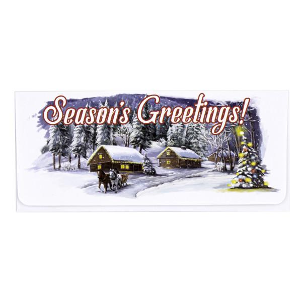 Season's Greetings Gift Envelope