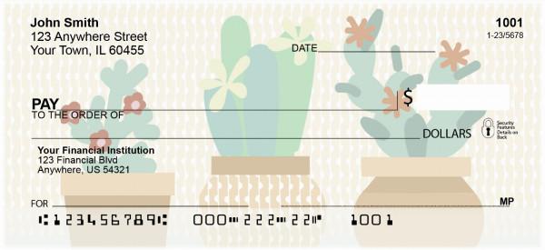 Colorful Cacti Personal Checks