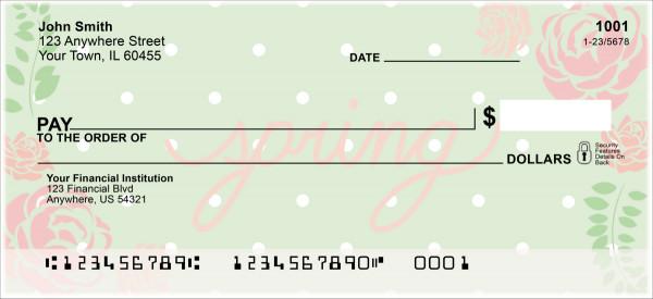 Spring Sayings Personal Checks