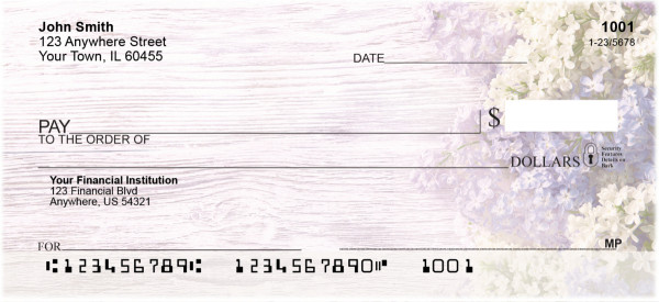Signs of Spring Personal Checks
