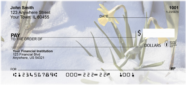 Daffodils First To Bloom Personal Checks
