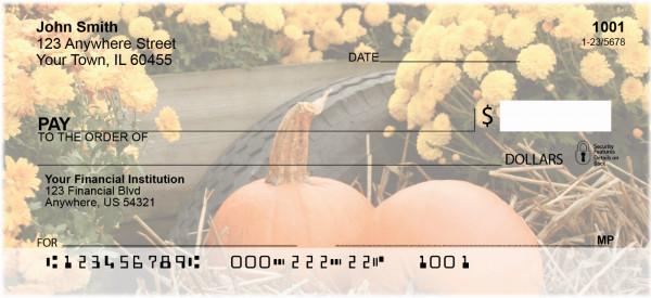 Colorful Fall Mums Personal Checks