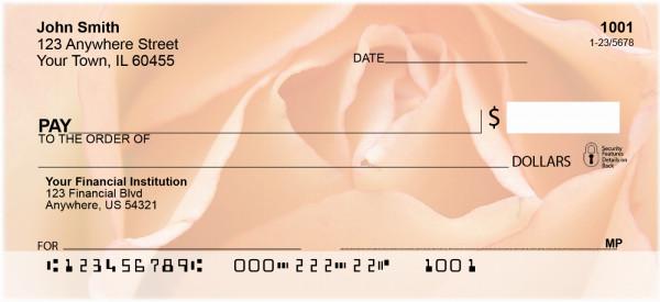 Peach Roses Personal Checks