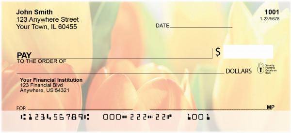 Tulip Temptations Personal Checks