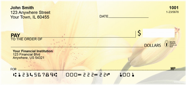Mellow Yellow Personal Checks
