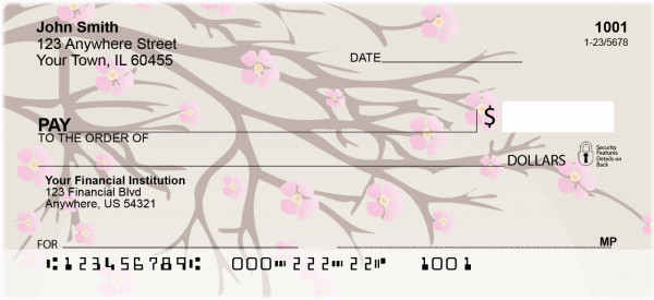 Oriental Blossoms In Spring Personal Checks