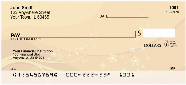 Oriental Inspired Sakura Blossoms Personal Checks