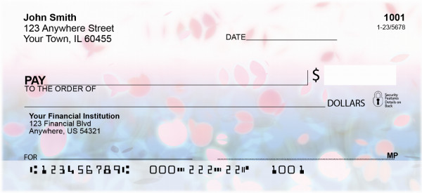 Sakura Blossoms Personal Checks