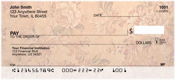 Vintage Baroque Personal Checks