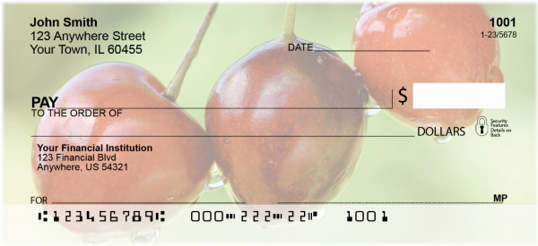 Cherries Personal Checks | FOD-35