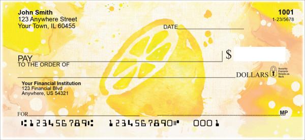 Watercolor Fruit Personal Checks