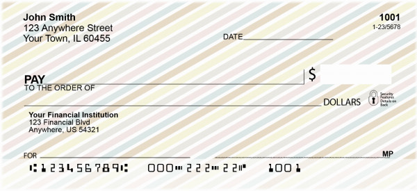 Stripes Personal Checks | GEO-02
