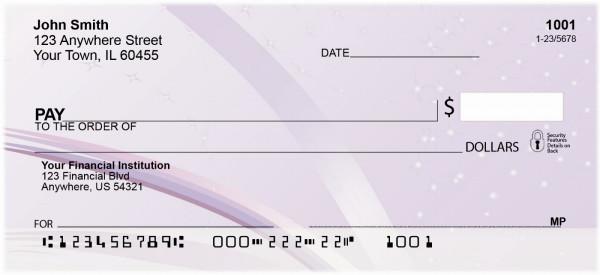 Lavendar Crush Personal Checks