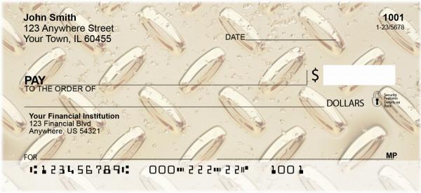Diamond Plate Multi-Color Personal Checks