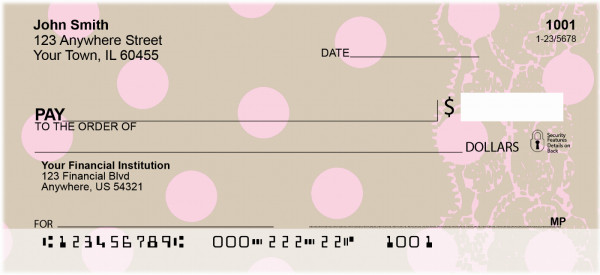 Brown Table Cloth Personal Checks | GEP-04