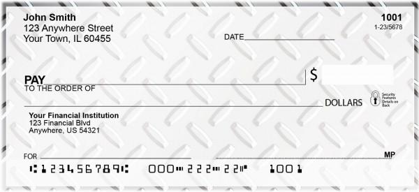 Diamond Plate Texture Personal Checks