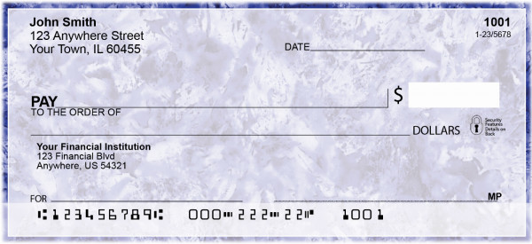 Abstract Crystal Personal Checks | GEP-72