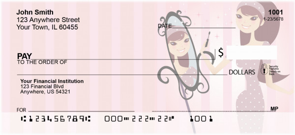 Girl Having Fun Personal Checks | GIR-05
