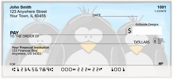 Jen Goode's Chilly Penguins Personal Checks | JEN-04