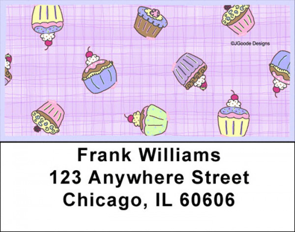 Jen Goode's Cupcake Party Address Labels | LBJEN-07