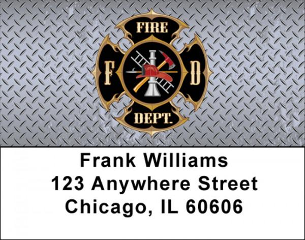 Firefighter Badges labels