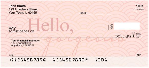 Hello, Gorgeous Personal Checks