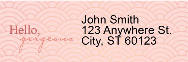 Hello, Gorgeous Narrow Address Labels