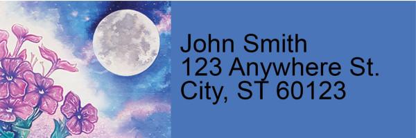 Celestial Moons Address Labels