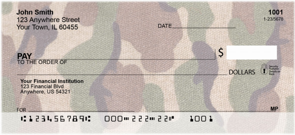 Camouflage - Coral Camos Personal Checks | MIL-25