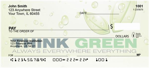 Think Green Personal Checks