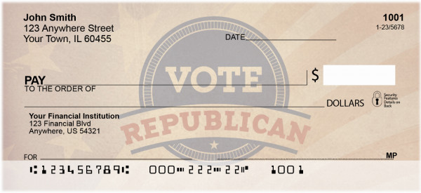 Vote Republican Personal Checks | POL-03