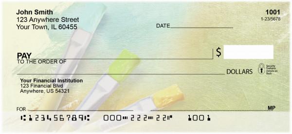 Colorful Canvas Personal Checks