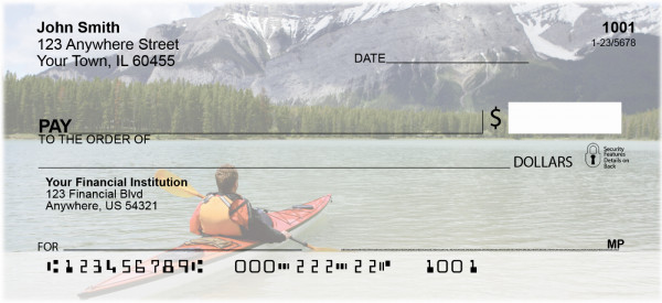 Serenity On The Kayak Personal Checks | SAI-08
