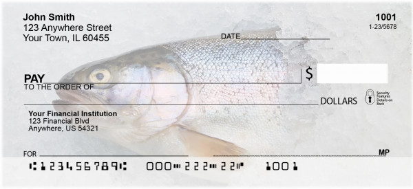 Trout On Ice Personal Checks | SPO-38