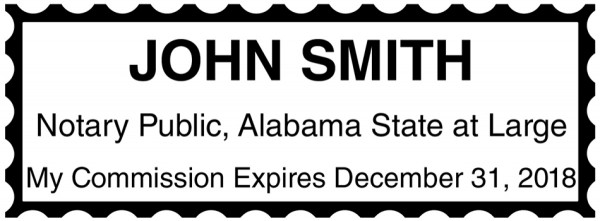 Alabama Notary Public Rectangle Stamp | STA-AL01