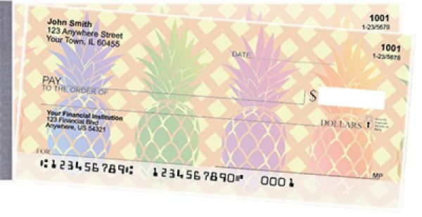 Pineapples Side Tear Personal Checks