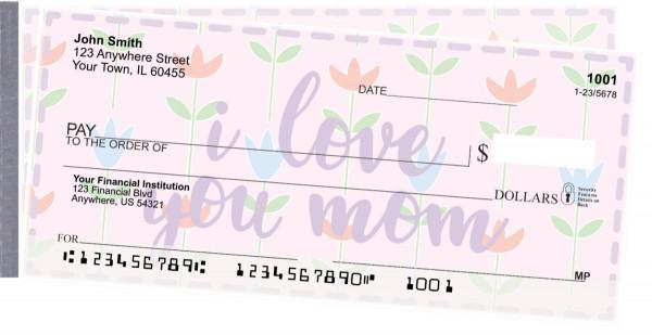 I Love You, Mom Side Tear Personal Checks