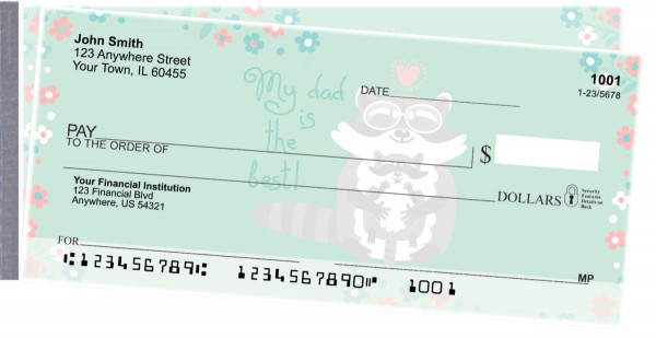 Dad is the Best Side Tear Personal Checks