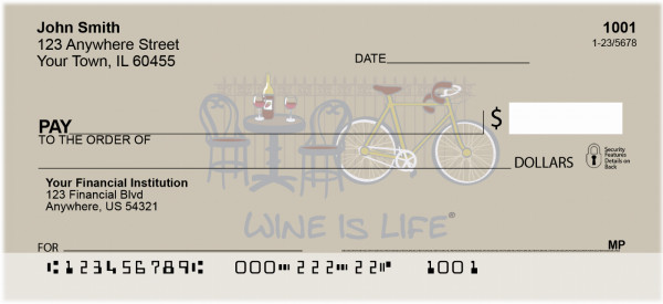 Wine Is Life Personal Checks | WIL-06