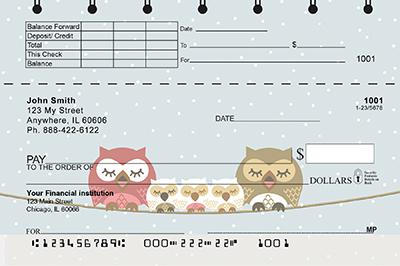Owls Top Stub Personal Checks